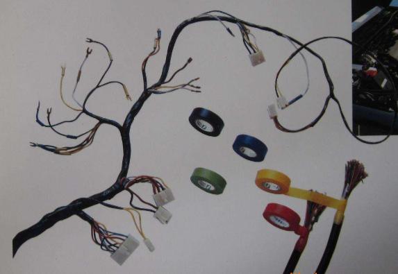 汽车电线束中胶带应用
