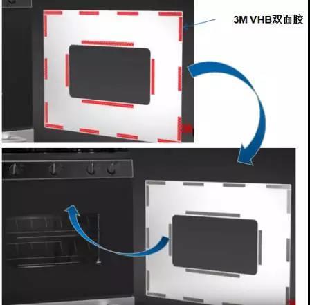 3M胶带VHB系列双面胶烤箱面板粘接